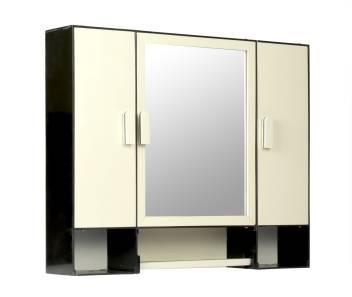 Dhanlaxmi Bathroom Mirror Cabinet With Storage Chest Shelves Napkin Rod Three Door Bathroom Cabinet Plastic Closet 16 X3 5 X20 4 5 Inches Deep Black Mix Ivory Plastic Wall Shelf Price In India