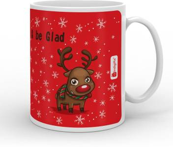 Indi ts Smile Sing & be Glad Quote Ceramic Mug Price in