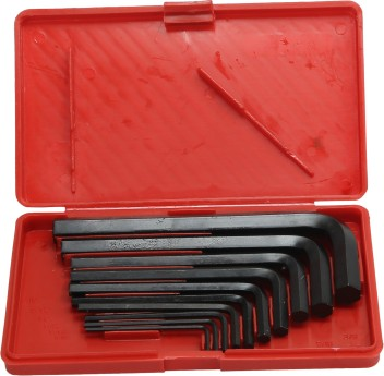Hex Allen Keys Of Different Sizes Wrench With Handy Storage Ring 10 Pieces