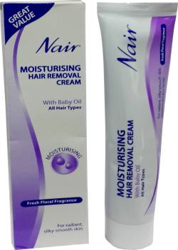 Nair Imported Moisturising Hair Removal Cream With Baby Oil Cream