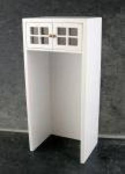 Dollhouse Miniature 1:12 Scale White Cabinet for Refrigerator #T5435