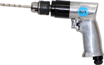 Adjustable Speed Pneumatic Mixer Forward and Reverse 10mm Air Drill 3//8 Handheld Air Drill