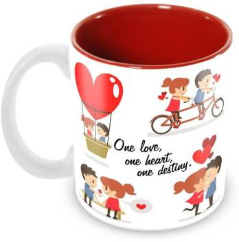 Tuelip Printed Beautiful Quotes For Couple One Love One Heart One Destiny Ceramic Ceramic Coffee Mug Price In India Buy Tuelip Printed Beautiful Quotes For Couple One Love One Heart One