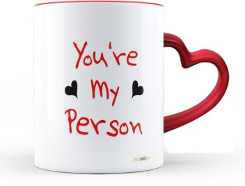 pics and you quotes themed my person red heart handle coffee