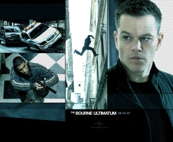 Bourne Identity FILM MOVIE METAL TIN SIGN POSTER WALL PLAQUE