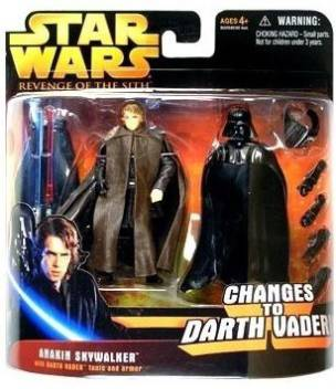 Star Wars Episode Iii 3 Revenge Of The Sith Anakin Skywalker Changes To Darth Vader Deluxe Action Figure Accessory Set By Episode Iii 3 Revenge Of The Sith Anakin Skywalker