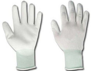 20 Pairs White PU Fingertip ESD Coated Anti-static Antiskid Gloves Non-slip PC