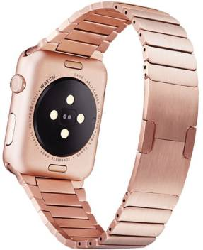 Memore Stainless Steel Link Replacement Bracelet Strap For Apple Watch Series 1 Series 2 Series 3 38mm Rose Gold Smart Watch Strap Price In India Buy Memore Stainless Steel Link Replacement Bracelet
