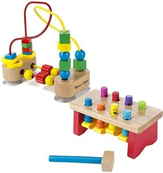 Wooden Educational Toy Melissa  Doug First Bead Maze