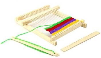 Tinksky Weaving Loom Kit Wooden Diy Handloom Weaving Toy