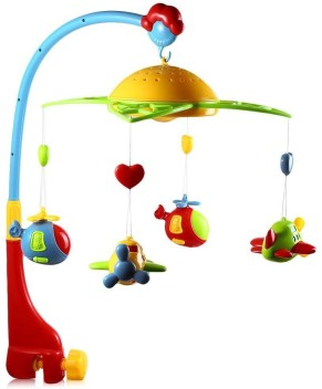 Generic Musical Hanging Baby Puppy Mobile with rattle and Teether