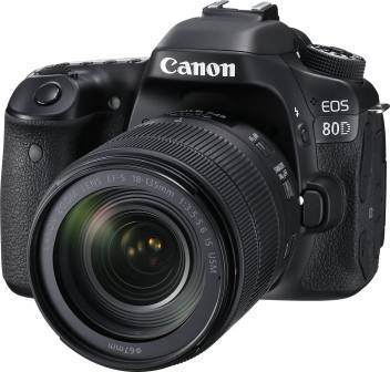 Canon EOS 80D DSLR Camera Body with Single Lens: EF-S 18-135