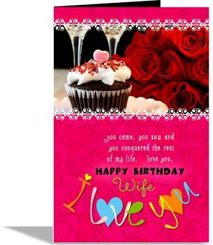 Alwaysgift Happy Birthday Wife I Love You Greeting Card Greeting Card Price In India Buy Alwaysgift Happy Birthday Wife I Love You Greeting Card Greeting Card Online At Flipkart Com