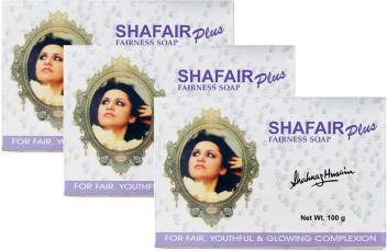 Shahnaz Husain Shafair Plus Fairness Soap (Pack of 3)  (3 x 100 g)