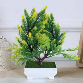 Tied Ribbons Artificial Bonsai Tree Plant With Pot For Balcony Living Room Indoor Outdoor Home Decoration Bonsai Artificial Plant With Pot Price In India Buy Tied Ribbons Artificial Bonsai Tree Plant