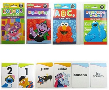 Free Post SESAME STREET Alphabet Flash cards Educational Kids Game