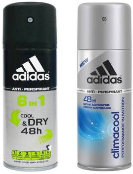 ADIDAS Cool & Dry & Climacool Deodorant Spray For Men