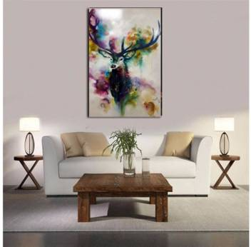 Living Room Elk Inkjet Oil Painting