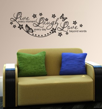 LIVE LAUGH LOVE quote inspirational family wall art sticker decal beauty salon