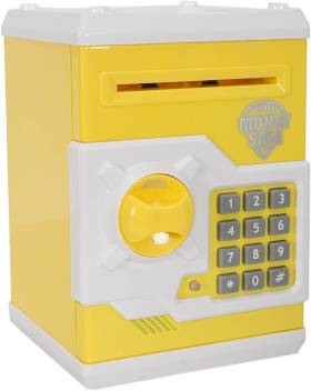 Mini Piggy Bank Safe Box Money Coin