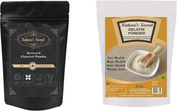 Nature S Secret Activated Charcoal Powder And Gelatin Powder 100