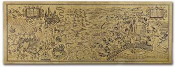 Harry Potter Marauders Map In Kraft Paper ~ Large ~ 72 cm x ...