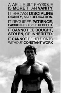 Arnold Schwarzenegger Gym Quotes Poster Art Gym Motivation Posters Paper Print