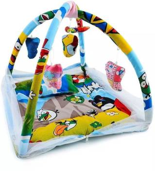 Lilliput Baby Play Gym Mattress Bedding Set With Mosquito Net And Hanging Toys For Baby 0 8 Months Baby Play Gym Angry Birds Print Price In India Buy Lilliput Baby Play Gym