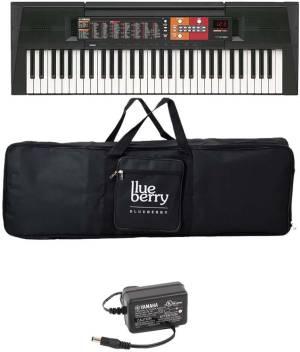 Yamaha Psr F 51 61 Keys Keyboard Along With Adapter And Blueberry Cover Bag Digital Portable Keyboard