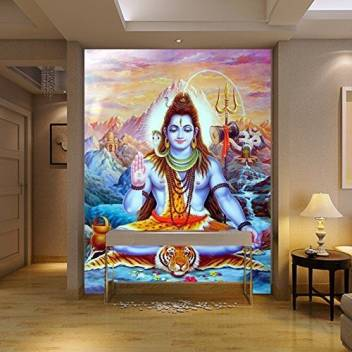 Total Home Size 4ft 4ft 3d Huge Religious Statues Hindu God Wall Art Picture Canvas