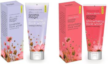 Aroma Magic Lavender & Strawberry Pack of 2 Face Wash  (200 ml)