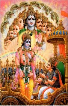 medium lord shri krishna with arjun mahabharat sticker for room original imaewtntvqd7eszk