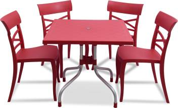 Supreme Red Plastic Table Chair Set Price In India Buy Supreme Red Plastic Table Chair Set Online At Flipkart Com