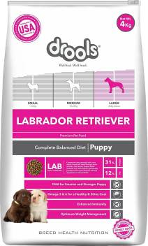 Drools Labrador Puppy Premium Chicken 4 Kg Dry Young New Born Dog Food Price In India Buy Drools Labrador Puppy Premium Chicken 4 Kg Dry Young New Born Dog Food Online
