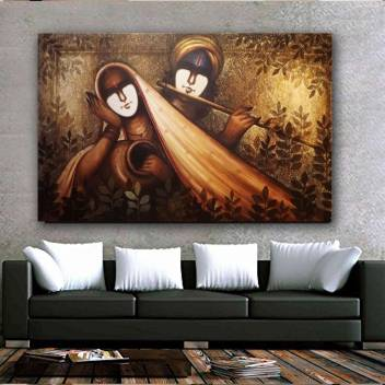 Beautiful Picture Of Lord Krishna Radha Wall Decor Poster For Living Room No Framed Large