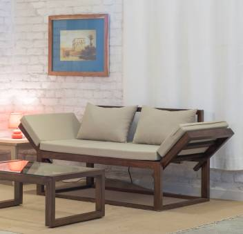 The Jaipur Living Milano Single Solid Wood Sofa Bed