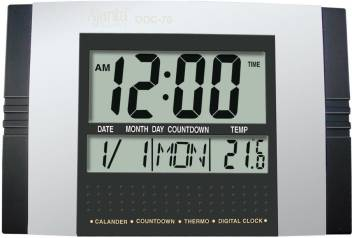 Ajanta Digital Calendar Table Clock Price in India - Buy