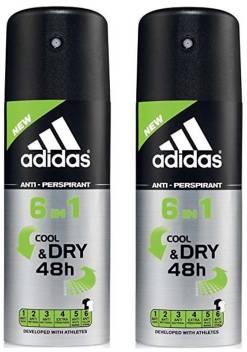 Venta caliente 2019 liquidación de venta caliente fotos nuevas ADIDAS 6 in 1 Cool N Dry Deodorant Spray - For Men - Price in ...