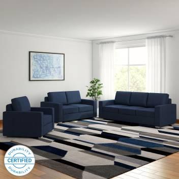 Furny Apollo Superb Fabric 3 + 2 + 1 Blue Sofa Set