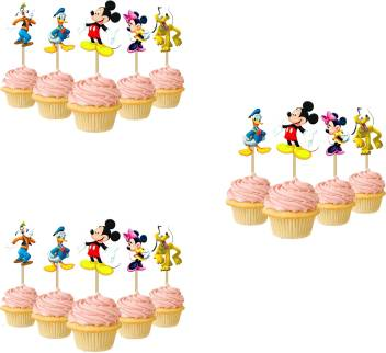 Prime Party Propz Multicolor Mickey Mouse Cup Cake Topper Set Of 14 Birthday Cards Printable Trancafe Filternl