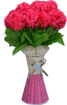 Solid Plastic Vase Flowerpots Plant Container for Home Artificial Flowers Decor