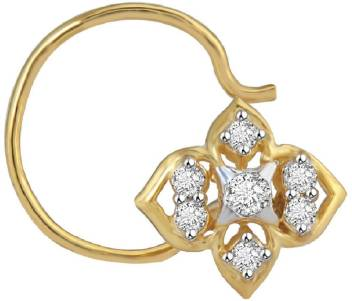 Lolls Diamond Gold Plated Plated Metal Nose Ring Price In India