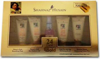 Shahnaz Hussain 24 Carat Golden Glow Gold Plus Facial Kit for Girls 55 ml  (Set of 5)