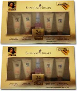 Shahnaz Hussain 24 Carat Golden Glow Gold Plus Facial Kit- Combo 55 ml  (Set of 2)