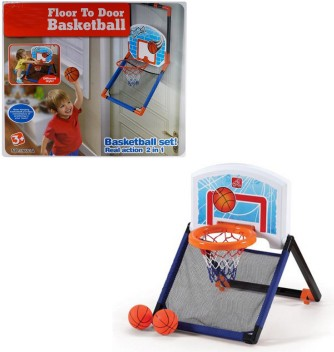 CHILDRENS ELECTRONIC OVER THE DOOR  BASKETBALL NET TOY HOOP BALL GAME SET