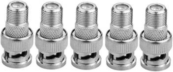 Secro 5 Pcs F Female To Bnc Male Coax Rf Connector Rg6 Rg59 Adapter Cctv Camera Connector Wire Connector Price In India Buy Secro 5 Pcs F Female To Bnc Male - 10+ Can You Connect Rg6 To Rg59? Gif