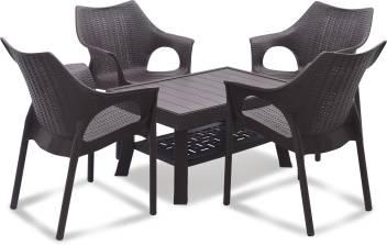 Supreme Brown Plastic Table Chair Set Price In India Buy Supreme Brown Plastic Table Chair Set Online At Flipkart Com