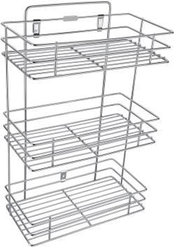 Mantavya Three Shelf Kitchen Racks, Kitchen Organiser, Racks & Shelves,  Hanging Racks, Spice Rack Stainless Steel Kitchen Rack