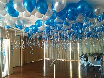 Art Bundle Solid Hy Birthday Decoration Metallic Hd Balloons Blue White Balloon
