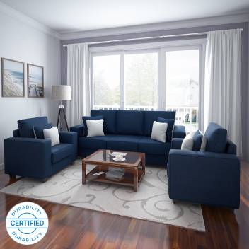 Swell Flipkart Perfect Homes Meteora Fabric 3 1 1 Blue Sofa Set Gmtry Best Dining Table And Chair Ideas Images Gmtryco